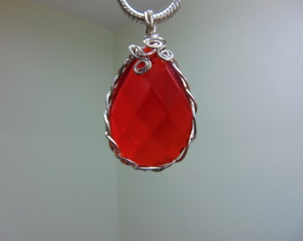 Frankly, Scarlet, I don't give a....red pendant necklace with matching earrings