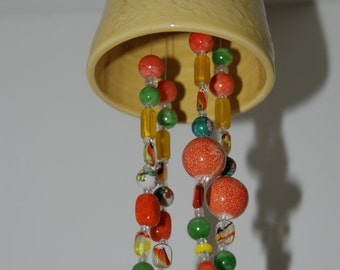 Handmade pottery bell. Handmade pottery wind chime.
