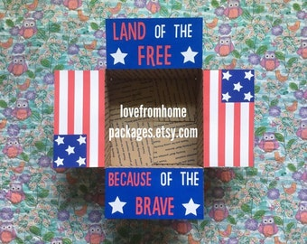Land of the Free Care Package Flaps