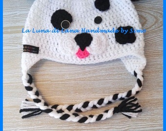 Hat for boy or girl newborn Dalmatian hat shaped hat with ears, baby CAP, beret for boy or girl