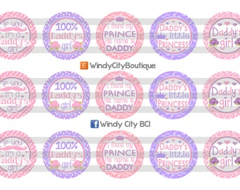 Daddy's Girl Bottle Cap Images/ Father's Day Bottle Cap Images