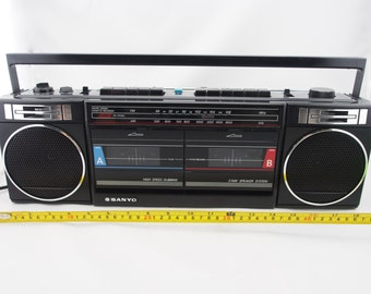 Vintage Sanyo AM/FM Stereo Cassette Tape Player, Sanyo Model MW703. Was_65.00