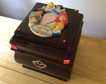 Princess Jewelry Box, Princess Treasure Box, Disney Princess Jewelry Box, Disney Princess Treasure Box, FREE SHIPPING!!!!