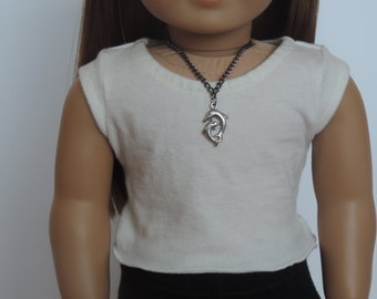 Two Dolphins Necklace - 18 Inch Doll Clothes // Jewelry