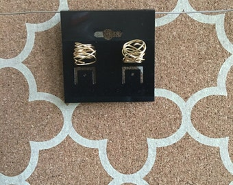 Gold Knotted Earrings