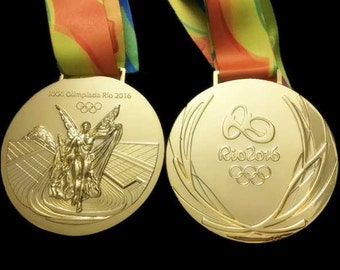 Rio 2016 Olympic 'Gold' Medal & Ribbon