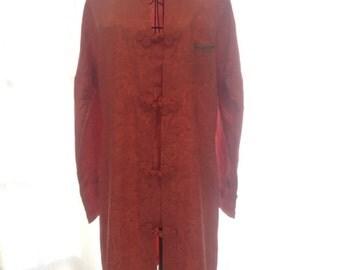 Vintage Peach Kimono Dress S