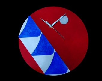 Mid Century Modern Wall Clock Aluminum Wall Clock