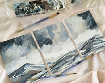 Tranquil Range Triptych 11x14 prints matted set of 3