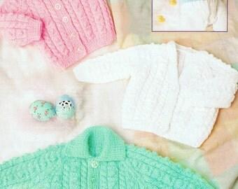baby cardigans dk knitting pattern 99p pdf