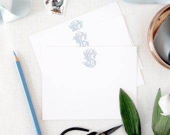 Custom Monogram Notecards/ Thank You Cards/ Stationery/Personalized