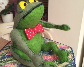 Mr Toad,Wind in the Willows, Felt, Hand Made