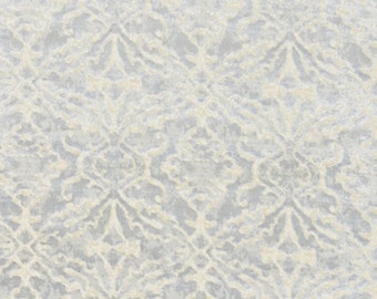 SCALAMANDRE PALAZZO CUT Velvet Damask Fabric 10 Yards Glacier