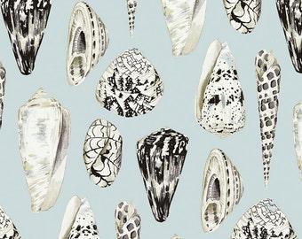 SCALAMANDRE Tropical South Seas Seashells Toile Linen Fabric 10 Yards  Capri