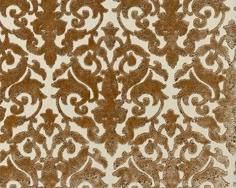 SCALAMANDRE Venezia Silk Velvet Jacquard Fabric 10 Yards Sable