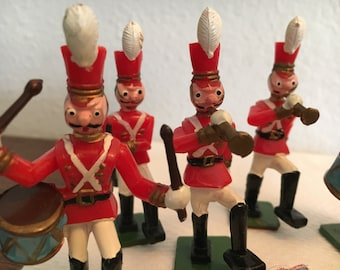 Vintage Marching Band Cavalry Cake Decorations Set of 6
