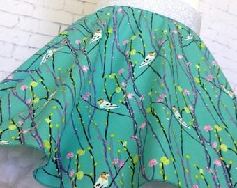 Size 4 Skater Skirt, Twirly Skirt, Girls Skirt, Petal and Plume by Bari J.
