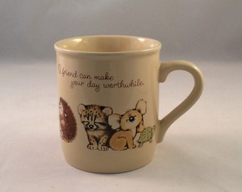 Vintage Hallmark A Friend Can Make Your Day Worthwhile, A Friend Knows How To Make You Smile Mug