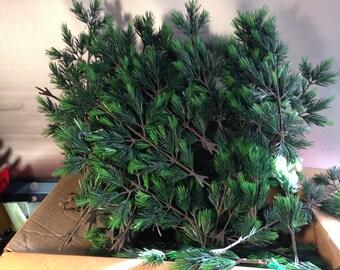 Vintage 1961 Evergreen Plastic Lifelike Tree Branches with Original Box