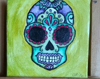 Sugar Skull Mini Painting