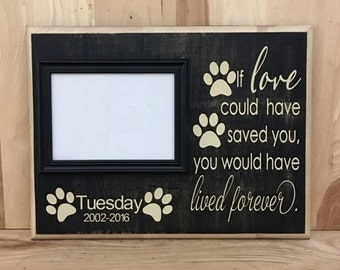 Personalized sign, pet sympathy gift, pet memorial frame, pet sign, memorial gift, memorial sign, pet loss gift, gift for dog lover
