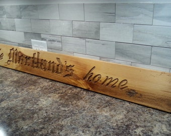 Hand Carved Wood Sign Custom Wood Sign Custom Name Sign Wooden Sign Personalized Wood Sign Rustic Home Decor Last Name Sign