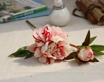 2 Pieces Silk Artificial PeonyFlowers For Bridemaid Bouquet SuppliesWedding Centerpieces Supplies