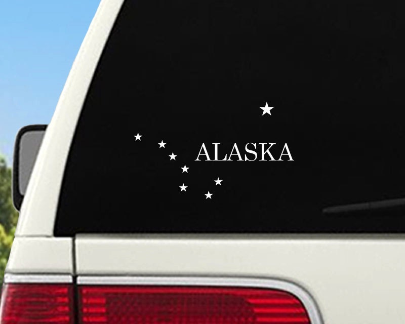Alaska Car Window Decal Alaska Flag Sticker Alaska State - Car window decal stickers