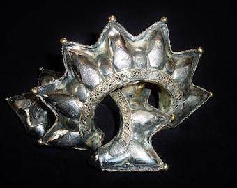 Vintage spike tribal bracelet, Kuchi Tribalarmreif