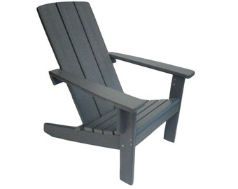 Adirondack Chair -Modern Style - Made from Poly Wood.