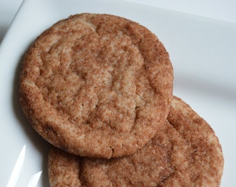 Snickerdoodles w/ a hint of chocolate (1 doz)