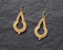 Gipsy Rajasthan Earrings, gold earrings, boho earrings, Tribal Earrings,Hoop Earrings, Tribal BellyDance Jewellery,Indian earrings