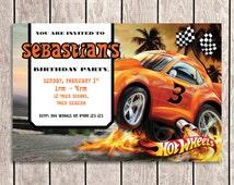 Hot Wheels Birthday Invitation - HW01-I