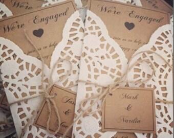 Engagement invitations...set of 80