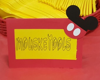 Mickey food labels set of 12