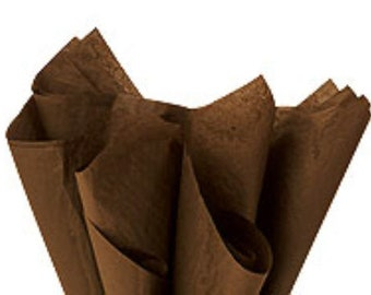 100 Sheets Chocolate 15inch x 20inch Gift Wrap Tissue Paper