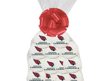 12pack NFL Arizona Cardinals  Decorated Sugar Cookies