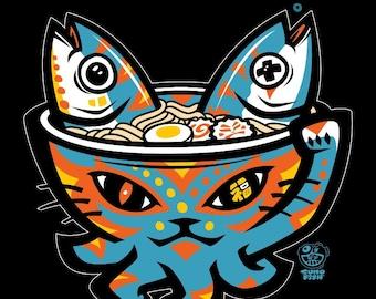 Lucky Ramen Cat