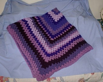 Purple Granny Square Afghan
