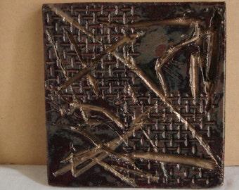 "A Lasting Impression   5 1/2"" Stoneware Tile"