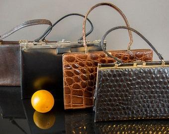 Collection of 40's - 60's Vintage Handbags , 4 Pieces