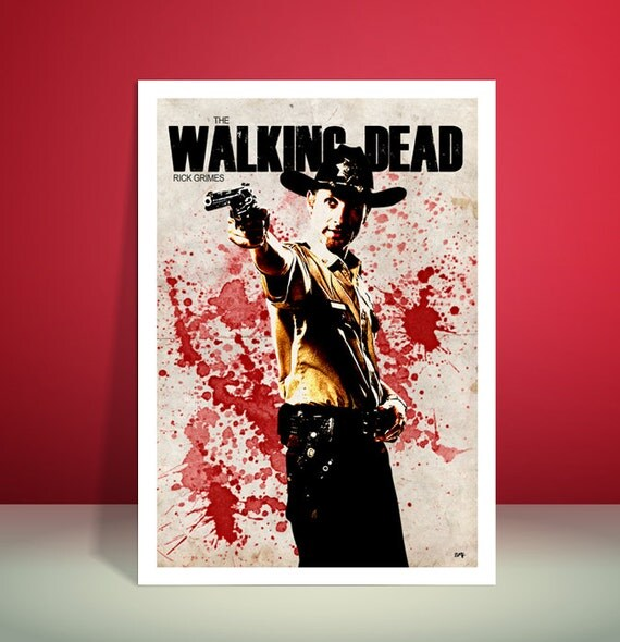 The Walking Dead // Rick Grimes // Unique A4 / A3 Art Print