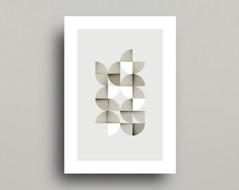 Scandinavian Modern Print, Midcentury Art, Neutral Art Print, Abstract Art, Minimal Print, Geometric Print, Modern Wall Print