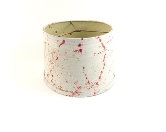 Hand Painted Pink and White Splatter Lampshade