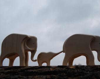 housewarming gift for family lucky charm figurines animal decor new home gift for good luck elephant decor elephant nursery gift wood