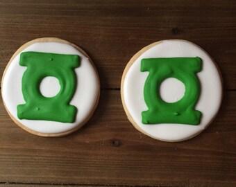 Green Lantern Cookies