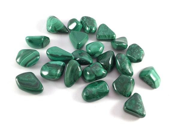 Beautiful Tumbled MALACHITE Healing Gemstone// Tumbled Malachite// Healing Crystals// Love Crystals// Heart Chakra// From the Congo