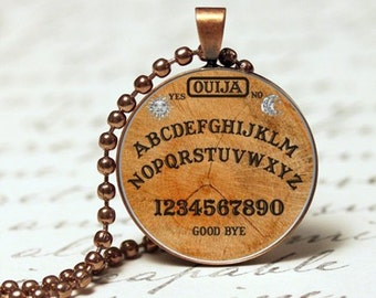 Ouija board gothic pendant necklace