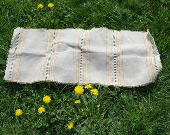 Vintage Linen tablecloth Woven Table runner, Table Linen Latvian vintage tablecloth Soviet Vintage Linen, rustic wedding tablecloth, gift