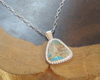 Beautiful Royston Turquoise Sterling Silver Handmade Necklace